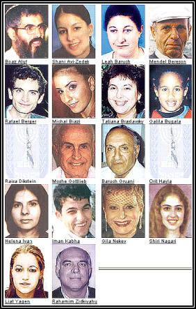 Die Opfer des Anschlags am 18-06-02 Jerusalem